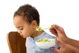 Toddler refusing to eat his vegetables