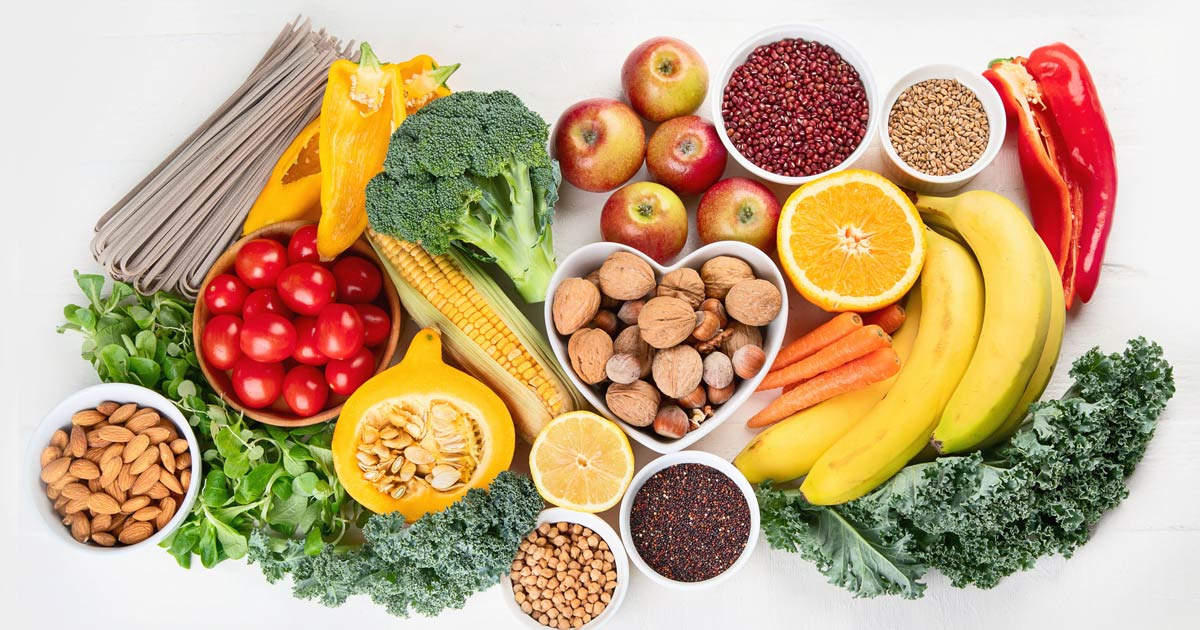 recommends a healthy diet including fiber per day