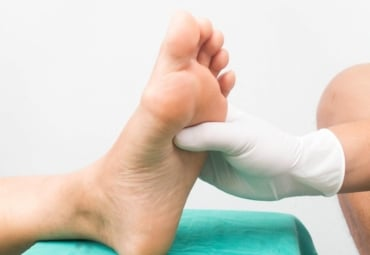 Image of a foot massage for diabetic neuropathy