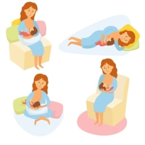 positions for breastfeeding your baby