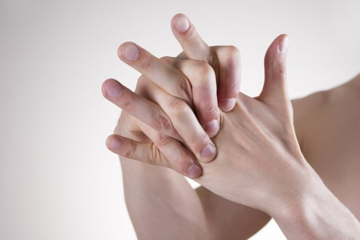 Hand Massage to help pain in the finger joints.